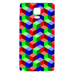 Seamless Rgb Isometric Cubes Pattern Galaxy Note 4 Back Case