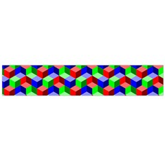 Seamless Rgb Isometric Cubes Pattern Flano Scarf (large)