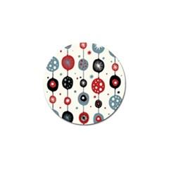 Retro Ornament Pattern Golf Ball Marker (10 Pack) by Nexatart