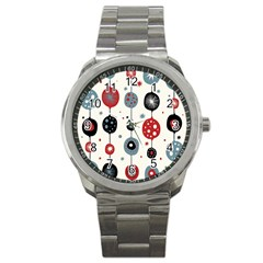 Retro Ornament Pattern Sport Metal Watch