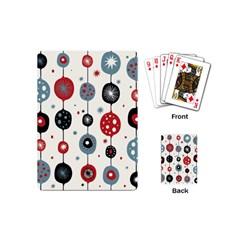 Retro Ornament Pattern Playing Cards (mini)  by Nexatart