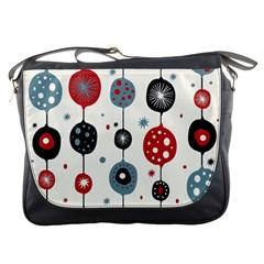 Retro Ornament Pattern Messenger Bags by Nexatart