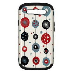 Retro Ornament Pattern Samsung Galaxy S Iii Hardshell Case (pc+silicone)