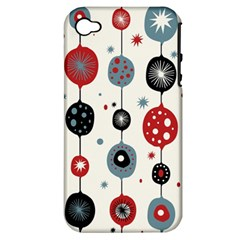 Retro Ornament Pattern Apple Iphone 4/4s Hardshell Case (pc+silicone)