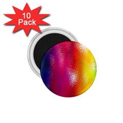 Color Glass Rainbow Green Yellow Gold Pink Purple Red Blue 1 75  Magnets (10 Pack)  by Mariart