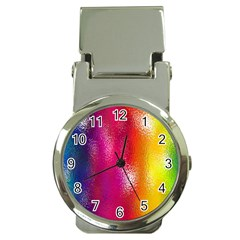 Color Glass Rainbow Green Yellow Gold Pink Purple Red Blue Money Clip Watches