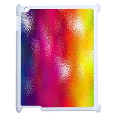 Color Glass Rainbow Green Yellow Gold Pink Purple Red Blue Apple Ipad 2 Case (white) by Mariart