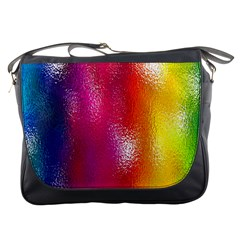 Color Glass Rainbow Green Yellow Gold Pink Purple Red Blue Messenger Bags by Mariart