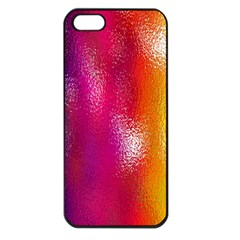 Color Glass Rainbow Green Yellow Gold Pink Purple Red Blue Apple Iphone 5 Seamless Case (black) by Mariart