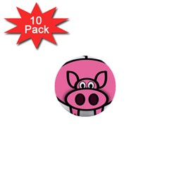 Pork Pig Pink Animals 1  Mini Buttons (10 Pack)  by Mariart