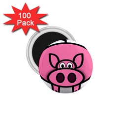 Pork Pig Pink Animals 1 75  Magnets (100 Pack)  by Mariart