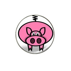Pork Pig Pink Animals Hat Clip Ball Marker by Mariart