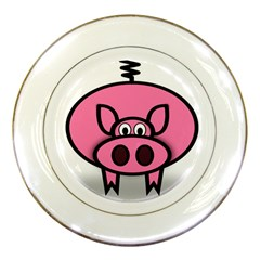 Pork Pig Pink Animals Porcelain Plates by Mariart