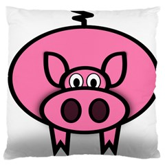 Pork Pig Pink Animals Large Cushion Case (one Side) by Mariart