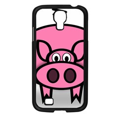 Pork Pig Pink Animals Samsung Galaxy S4 I9500/ I9505 Case (black) by Mariart