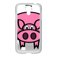 Pork Pig Pink Animals Samsung Galaxy S4 I9500/ I9505 Case (white) by Mariart