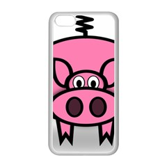 Pork Pig Pink Animals Apple Iphone 5c Seamless Case (white) by Mariart