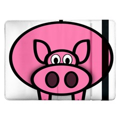Pork Pig Pink Animals Samsung Galaxy Tab Pro 12 2  Flip Case by Mariart