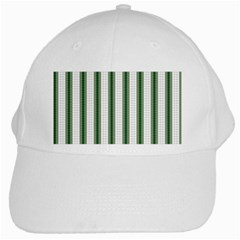 Plaid Line Green Line Vertical White Cap by Mariart
