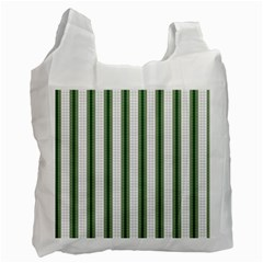 Plaid Line Green Line Vertical Recycle Bag (one Side) by Mariart