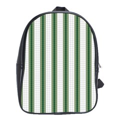 Plaid Line Green Line Vertical School Bags(large)  by Mariart