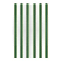 Plaid Line Green Line Vertical Shower Curtain 48  X 72  (small)  by Mariart