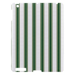 Plaid Line Green Line Vertical Apple Ipad 3/4 Hardshell Case by Mariart