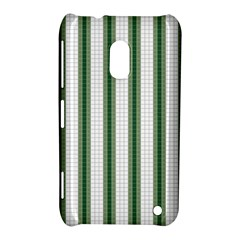 Plaid Line Green Line Vertical Nokia Lumia 620 by Mariart