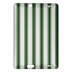 Plaid Line Green Line Vertical Amazon Kindle Fire Hd (2013) Hardshell Case by Mariart