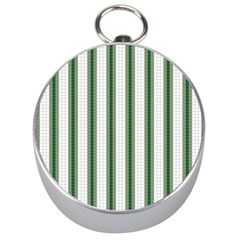 Plaid Line Green Line Vertical Silver Compasses by Mariart