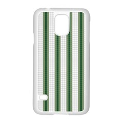 Plaid Line Green Line Vertical Samsung Galaxy S5 Case (white) by Mariart