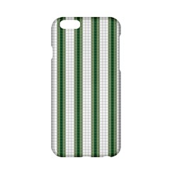 Plaid Line Green Line Vertical Apple Iphone 6/6s Hardshell Case by Mariart