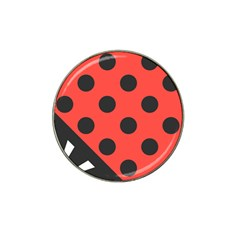 Red Black Hole White Line Wave Chevron Polka Circle Hat Clip Ball Marker (10 Pack) by Mariart