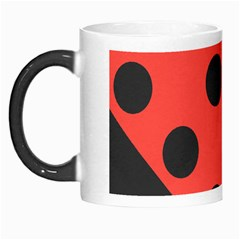 Red Black Hole White Line Wave Chevron Polka Circle Morph Mugs by Mariart