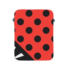Red Black Hole White Line Wave Chevron Polka Circle Apple Ipad 2/3/4 Protective Soft Cases by Mariart