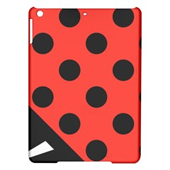 Red Black Hole White Line Wave Chevron Polka Circle Ipad Air Hardshell Cases by Mariart