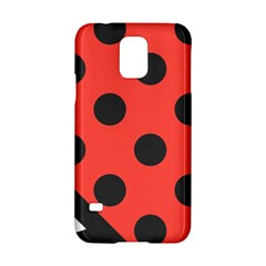 Red Black Hole White Line Wave Chevron Polka Circle Samsung Galaxy S5 Hardshell Case  by Mariart