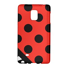 Red Black Hole White Line Wave Chevron Polka Circle Galaxy Note Edge by Mariart