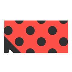 Red Black Hole White Line Wave Chevron Polka Circle Satin Wrap by Mariart