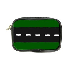 Road Street Green Black White Line Coin Purse by Mariart