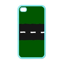 Road Street Green Black White Line Apple Iphone 4 Case (color) by Mariart