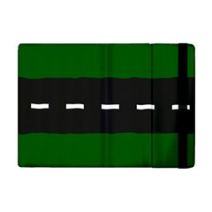 Road Street Green Black White Line Apple Ipad Mini Flip Case