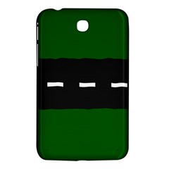 Road Street Green Black White Line Samsung Galaxy Tab 3 (7 ) P3200 Hardshell Case  by Mariart