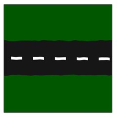 Road Street Green Black White Line Large Satin Scarf (square) by Mariart