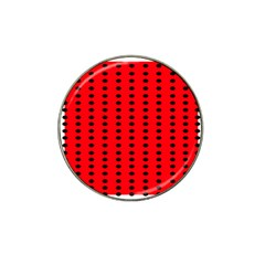 Red White Black Hole Polka Circle Hat Clip Ball Marker (10 Pack) by Mariart