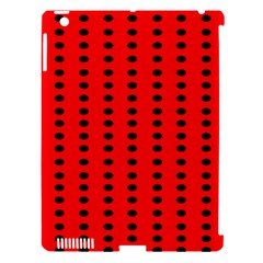 Red White Black Hole Polka Circle Apple Ipad 3/4 Hardshell Case (compatible With Smart Cover) by Mariart