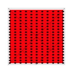 Red White Black Hole Polka Circle Acrylic Tangram Puzzle (6  X 6 ) by Mariart