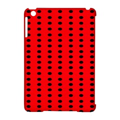 Red White Black Hole Polka Circle Apple Ipad Mini Hardshell Case (compatible With Smart Cover) by Mariart