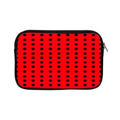 Red White Black Hole Polka Circle Apple Ipad Mini Zipper Cases by Mariart