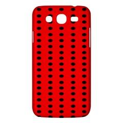 Red White Black Hole Polka Circle Samsung Galaxy Mega 5 8 I9152 Hardshell Case  by Mariart